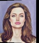 Angelina Jolie, Drawings / Sketch, Realism, Figurative, Oil, By Stefan Pabst