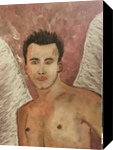 angels can be real men, Drawings / Sketch, Fine Art,Impressionism, Erotic, Acrylic,Glass,Mixed, By Aaron Leslie Ellisor