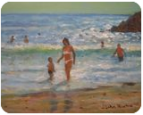 Another Hot Day, Paintings, Impressionism, Seascape, Acrylic, By John William Richie
