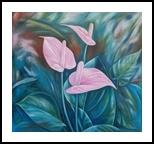 Anturius, Paintings, Realism, Floral, Canvas,Oil, By Marcio Franca Moreira