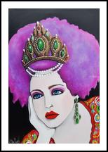 Anya (Anastasia) of Russia, Paintings, Modernism,Pop Art,Realism, Fantasy,Figurative,Portrait, Acrylic, By Lynne L Bolton