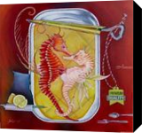 Appetizer, Paintings, Surrealism, Animals, Canvas, By Bob Ivens