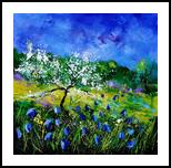 Appletree 7741, Paintings, Impressionism, Landscape, Canvas, By Pol Henry Ledent