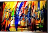 Arabic Calligraphy-- Innallaha, Calligraphy,Paintings, Abstract,Pop Art, Religious,Spiritual, Canvas,Oil,Painting, By asm g ambia