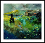 Ardennes 8841, Paintings, Expressionism, Landscape, Canvas, By Pol Henry Ledent