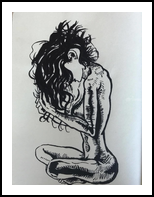 As simple as Eve, Drawings / Sketch, Realism, Fantasy, Ink, By Duha Younes