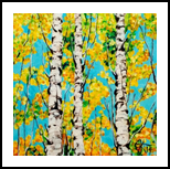 Aspen Gold Autumn Trees Rocky Mountains Jackie Carpenter, Paintings, Expressionism, Nature, Acrylic, By Jackie Carpenter