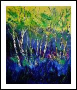 Aspentrees 56, Paintings, Expressionism, Landscape, Canvas, By Pol Henry Ledent