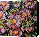 asters, Paintings, Fine Art, Botanical,Floral,Nature, Acrylic,Canvas, By Marta Kuźniar