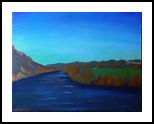 Autum Sugar Creek, Land Art, Fine Art, Land Art, Acrylic,Canvas, By Loretta Hon