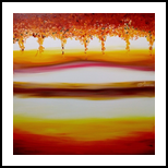 Autumn, Paintings, Abstract,Fine Art,Minimalism,Modernism, Decorative,Floral,Landscape,Nature, Oil, By Monika Toth