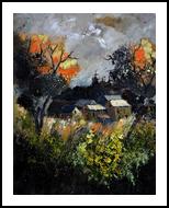 autumn 455111, Paintings, Impressionism, Botanical, Canvas, By Pol Henry Ledent