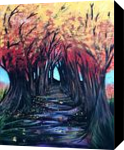 Autumn Day, Paintings, Fine Art, Nature, Acrylic, By adam santana