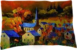 Autumn in Houroy 6771, Paintings, Expressionism, Landscape, Canvas, By Pol Henry Ledent