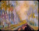 Autumn marathon, Paintings, Impressionism, Landscape, Canvas, By Valeriy Politov