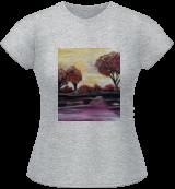 Autumn Sundown, Paintings, Fine Art, Nature, Acrylic, By adam santana