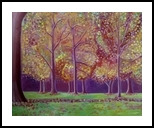 Autumn Trees in Hyde Park, Paintings, Fauvism,Fine Art,Impressionism, Landscape, Oil, By Mary Stubberfield