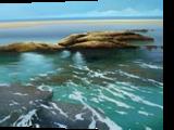 bajamar, Paintings, Realism, Seascape, Canvas,Oil, By Jose Higuera