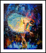 Ballerina, Paintings, Impressionism, Dance, Canvas,Oil,Painting, By Olha   Vyacheslavovna Darchuk