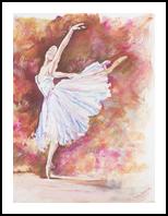 Ballerina Grace, Paintings, Fine Art, Dance,Figurative, Pastel, By Eva Marie Hunter