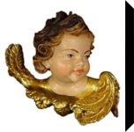 Baroque Angel Bust, Carvings, Impressionism,Medievalism, Historical,Religious, Wood, By Beniamino Grossrubatscher