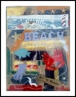 Beach, Assemblage, Impressionism, Seascape, Mixed, By Briz Conard