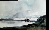 Beach Life, Paintings, Pop Art, Landscape, Watercolor, By james Allen lagasse