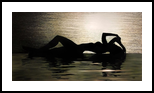 Beach silhouette, Paintings, Impressionism,Realism, Anatomy,Figurative,Seascape, Oil, By Ivan Pili
