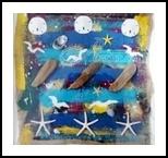 Beach Tic-Tac-Toe, Assemblage, Pop Art, Seascape, Mixed, By Briz Conard