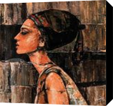 Beauty Of Audrey, Paintings, Abstract, Figurative, Acrylic, By Gurdish Pannu