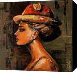 Beauty Of Audrey, Paintings, Abstract, Figurative, Acrylic,Canvas, By Gurdish Pannu