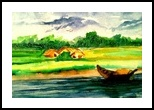 Beauty of Nature 2, Folk Art,Paintings, Fine Art, Landscape, Watercolor, By asm g ambia