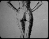 Beauty Shadow and Light, Drawings / Sketch, Minimalism, Erotic,Nudes,People, Ink, By Matthew Scott Lannholm