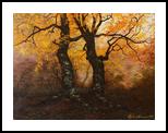 Beech forest, Paintings, Realism,Romanticism, Botanical,Landscape, Canvas,Oil, By Nataliya KyrkachAntonenko
