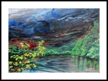 Before the Storm in Plainsboro, New Jersey, Paintings, Expressionism, Landscape, Acrylic, By Victor Ovsyannikov