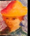 Bella, Pastel, Impressionism, Portrait, Pastel, By Eric Kirkpatrick