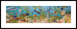 Beneath the Surface, Caribbean Sea, Multipanel Art,Murals,Paintings, Expressionism,Fine Art,Realism, Environmental art,Nature,Seascape,Tropical,Window on the World, Oil, By Colleen Lambert