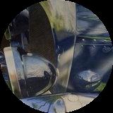 Gloss White Hardboard Round Coaster with Cork Back