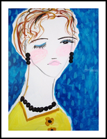Bernice, Paintings, Abstract,Impressionism,Minimalism,Modernism,Primitive, Portrait, Acrylic, By Lianne Kocks