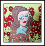 Bette's Flowers, Paintings, Pop Art, Portrait, Acrylic, By L Lovenstein