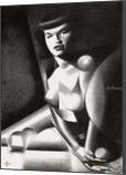 Bettie Page – 17-02-18, Drawings / Sketch, Abstract,Cubism,Fine Art,Futurism,Realism, Anatomy,Composition,Erotic,Figurative,Inspirational,Nudes,People, Pencil, By Corne Akkers