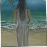 Between here and there, Paintings, Impressionism,Realism,Romanticism, Figurative,Portrait,Seascape, Oil, By Jane Moore