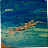 Beyond the Blue, Paintings, Abstract,Expressionism, Botanical,Conceptual,Decorative,Nature, Acrylic, By Lisa Annette Bowersock