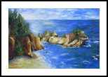 Big Sur, Paintings, Expressionism, Seascape, Oil, By Jane Adrianson