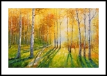 Birch grove, Paintings, Impressionism, Botanical,Landscape,Nature,Wildlife, Canvas,Oil,Painting, By Olha   Vyacheslavovna Darchuk