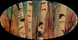 Birch Trees, Paintings, Fine Art, Landscape, Watercolor, By james Allen lagasse