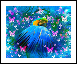 Bird in color, Digital Art / Computer Art, Fine Art, Botanical, Canvas,Digital, By Ata Alishahi