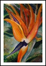 Bird of Pray, Paintings, Impressionism, Floral, Acrylic, By Marion Grant Freeman