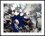 BLACK AND BLUE, Paintings, Abstract, Celestial / Space, Canvas, By William Birdwell