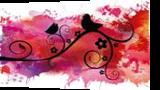 Black birds silhouette on a branch, Digital Art / Computer Art,Illustration,Poster,Printma king, Commercial Design,Romanticism, Animals,Botanical,Decorative,Floral,Nature, Digital, By Rosa Benfica Castela